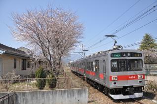 2011年4月18日 上田電鉄別所線 塩田町 1000系1004F
