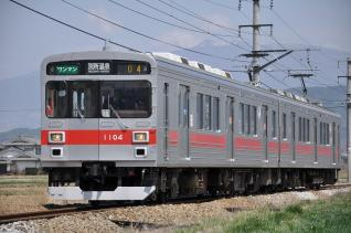2011年4月18日 上田電鉄別所線 舞田~八木沢 1000系1004F