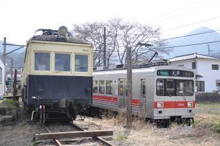 2011年4月18日 上田電鉄別所線 別所温泉~八木沢 モハ5250型5252号・1000系1004F