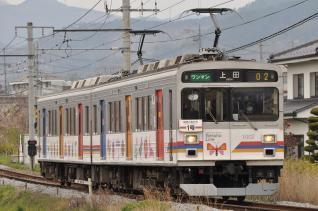 2011年4月30日 上田電鉄別所線 赤坂上~三好町 1000系1002F