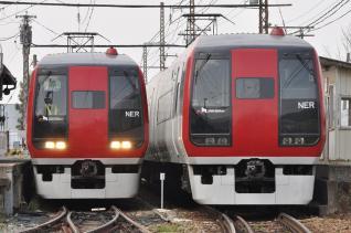 2011年5月4日 長野電鉄長野線 信濃竹原 2100系E1編成・E2編成