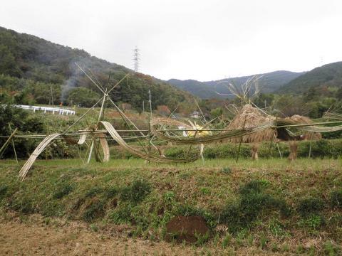 竹と藁のアート62