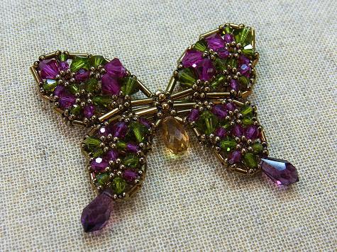 スワロフスキー蝶々