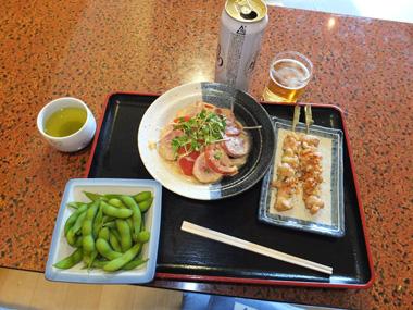6枝豆+焼き鳥+鴨トマトサラ