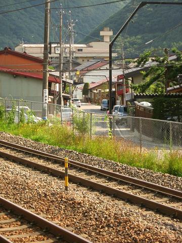 線路に阻まれる旧中山道