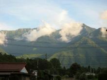 中央アルプスの山々