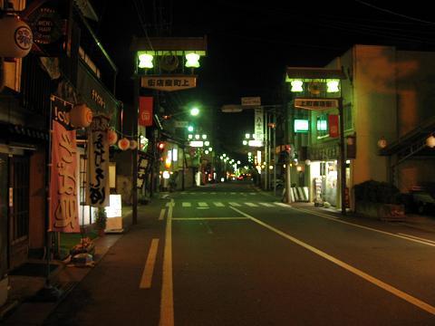 福島宿上町夜景
