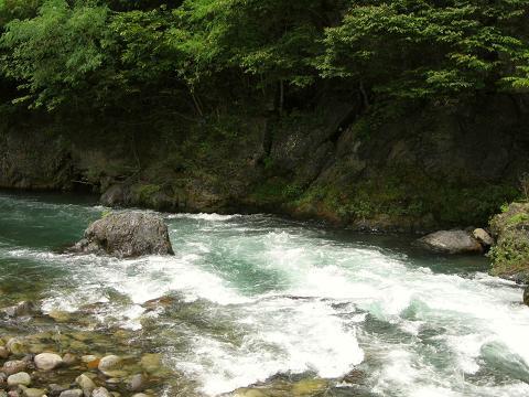 木曽福島・木曽川