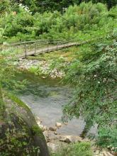 吊り橋と木曽川