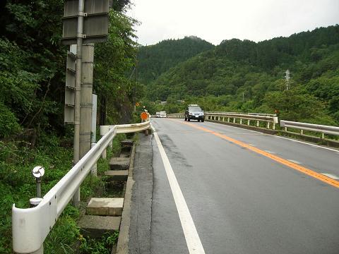 国道19号・笹沢付近