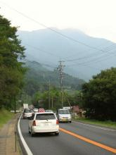 国道19号・小野の滝付近