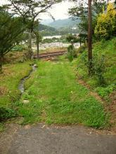 倉本駅裏の旧道