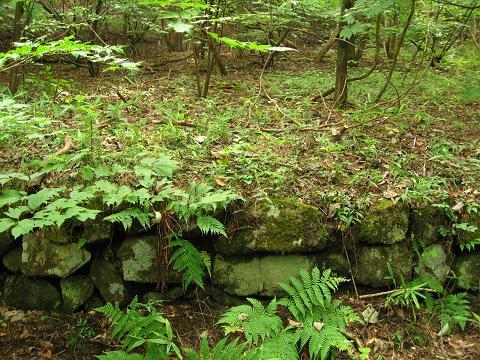 エゲ坂茶屋跡らしき石垣