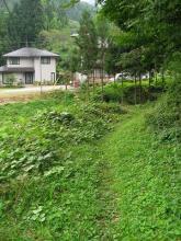 野尻宿付近の旧道
