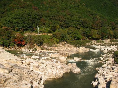柿其橋より、木曽川の流れ