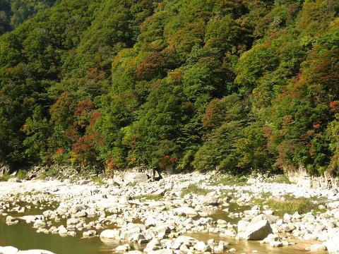 与川渡付近・木曽川の流れ