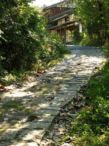 戦沢付近の石畳道