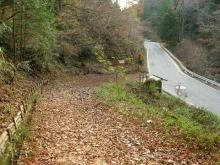 滝上の旧道