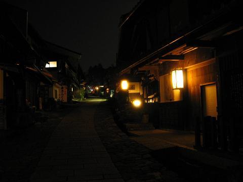 馬籠宿の夜