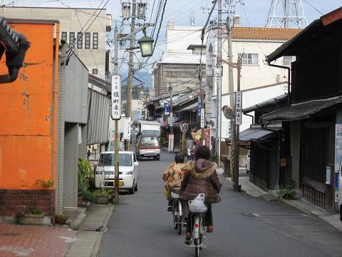 中津川宿本町付近