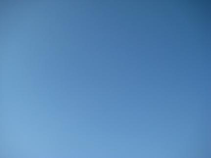 空の青(笑)