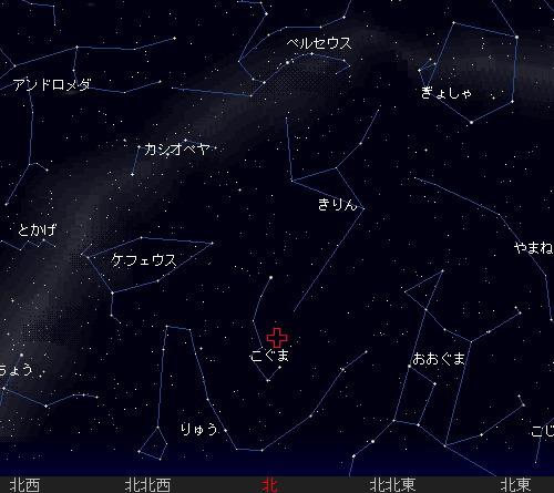 201112 23 こぐま座流星群星図