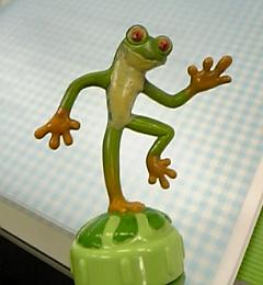 特に画像が無いのでT君(仮名)のゴム製蛙でお茶を濁します