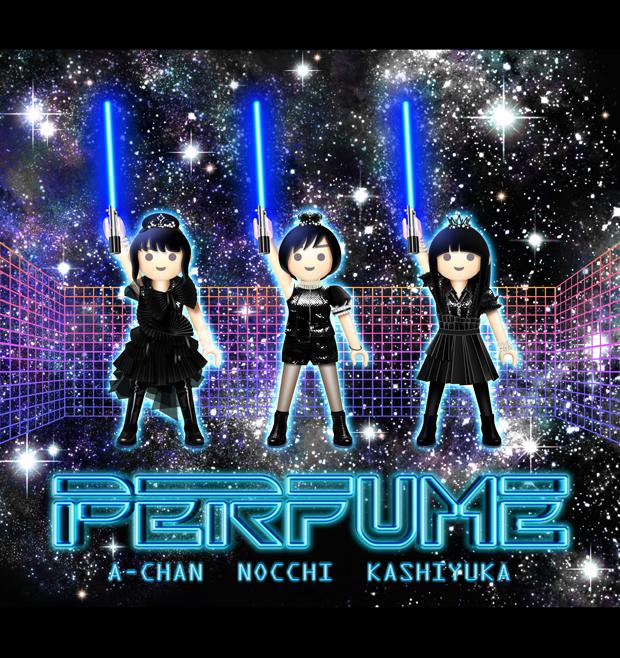 Perfumeイラスト_GAME×プレイモービル_宇宙三剣士