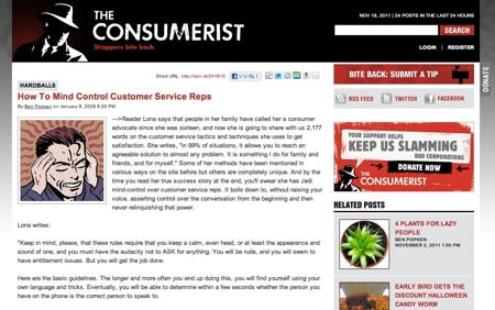 Consumerist customer service