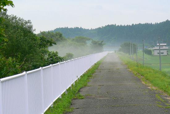 110710 岩見川の土手サイクリングロード