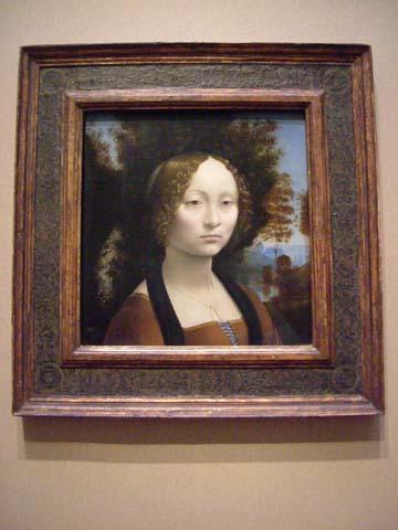 ジネブラ・デ・ベンチの肖像/レオナルド・ダ・ヴィンチ
