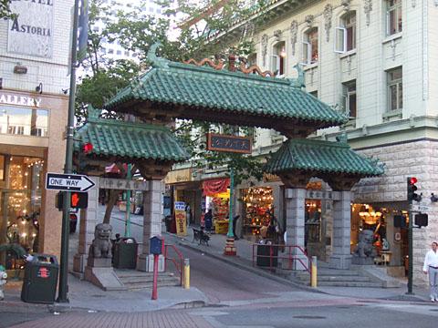 チャイナタウン in サンフランシスコ