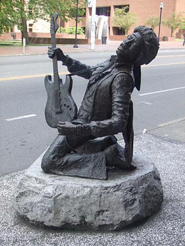 ジミ・ヘンドリックス像