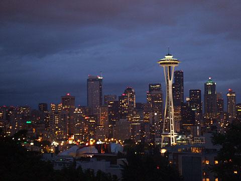 シアトルの夜景