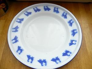 あひるホウロウ皿