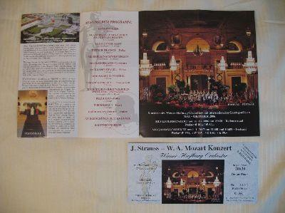 ウィーンのコンサートチケット