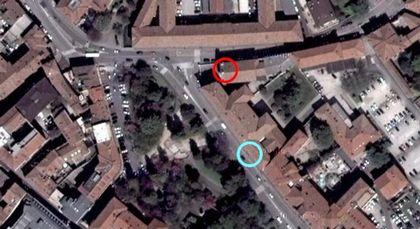 ティエポロ美術館の位置