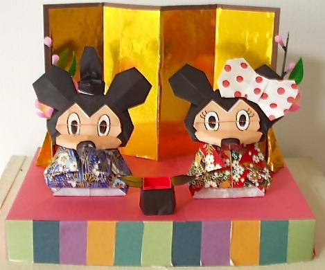 雛人形(ミッキー&ミニー)