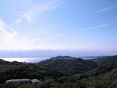 葉山の海が見える