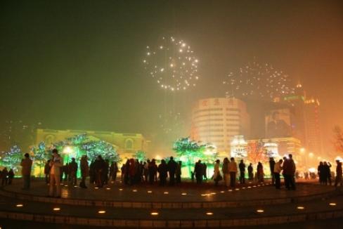 中山広場に到着すると既に多くの人がいました。