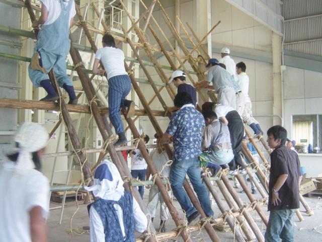 2006年の茅葺講習会の様子1
