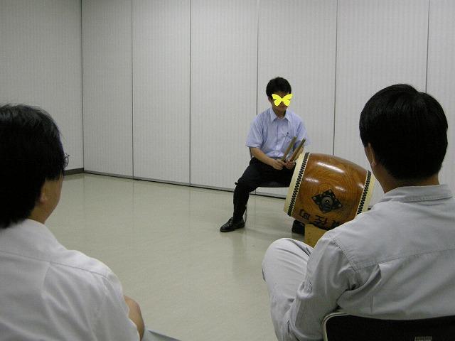 盆踊り太鼓の練習070801