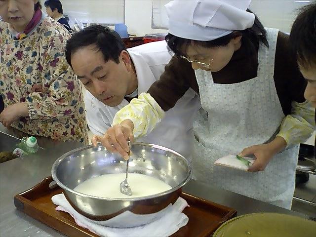 チーズ作り070217固さ1