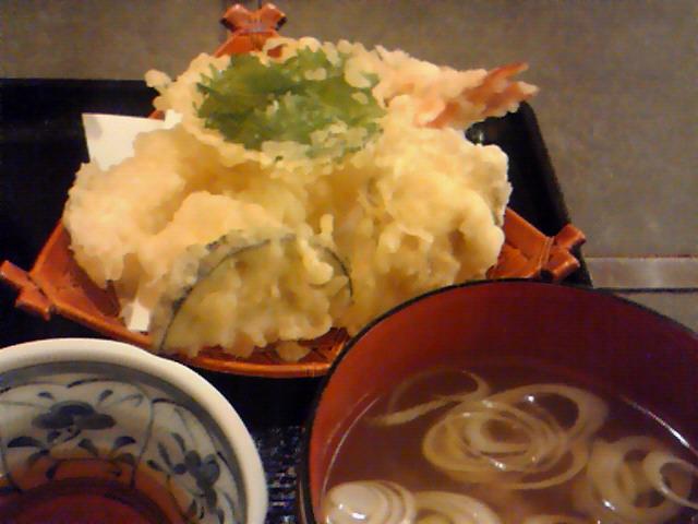 みち田(てんぷらと蜆汁)