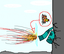ドータクンvsオニスズメ