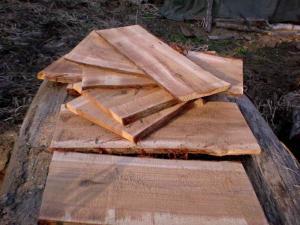 巣箱蓋用素材 板挽きされた杉材