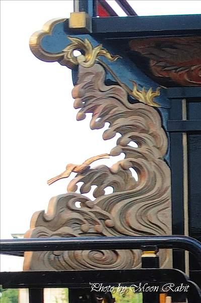 中之段だんじり(屋台・楽車)の隅障子 西条祭り2010 伊曽乃神社祭礼 御殿前(西条高校前) 愛媛県西条市明屋敷 2010年10月16日