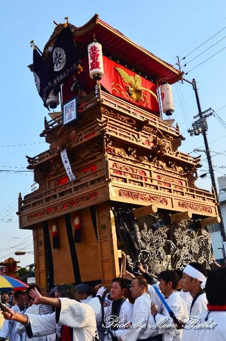 西条祭り2011 御殿前 北之町上組だんじり(北の町上組屋台・楽車) 伊曽乃神社祭礼