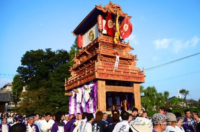 西条祭り2011 御殿前 川原町だんじり(屋台・楽車) 伊曽乃神社祭礼