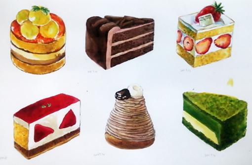 カラーインクケーキ